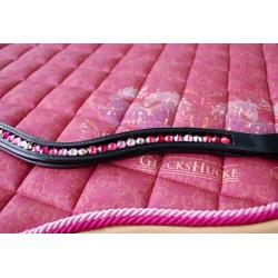 Wave Stirnriemen & Schabracke Rot Rosa Pink Setpreis