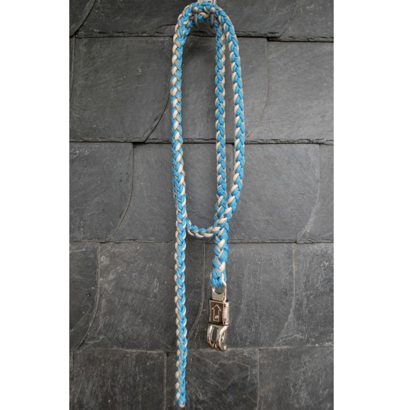 Anbinde-strick pferd hellblau blau