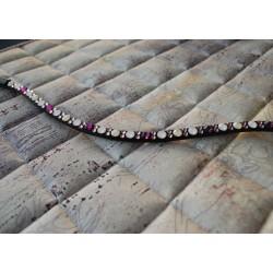 glitzer strass Stirnriemen & schöne Schabracke in Rosa, Lila