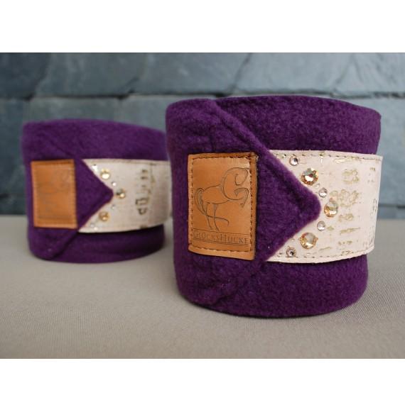 fleece-Bandagen lila mit Swarovski
