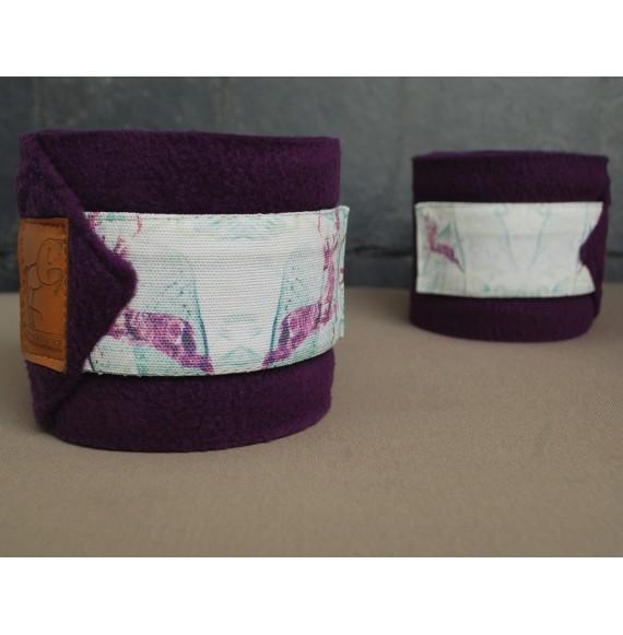 Fleece-Bandagen pferd Lila kaufen