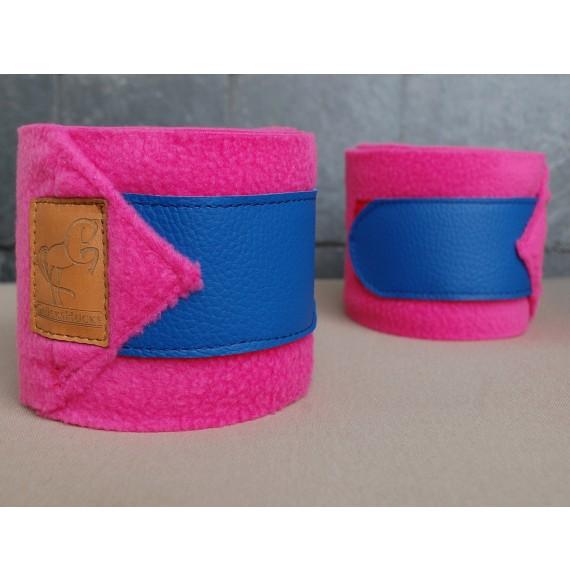 Bandagen pferd pink blau