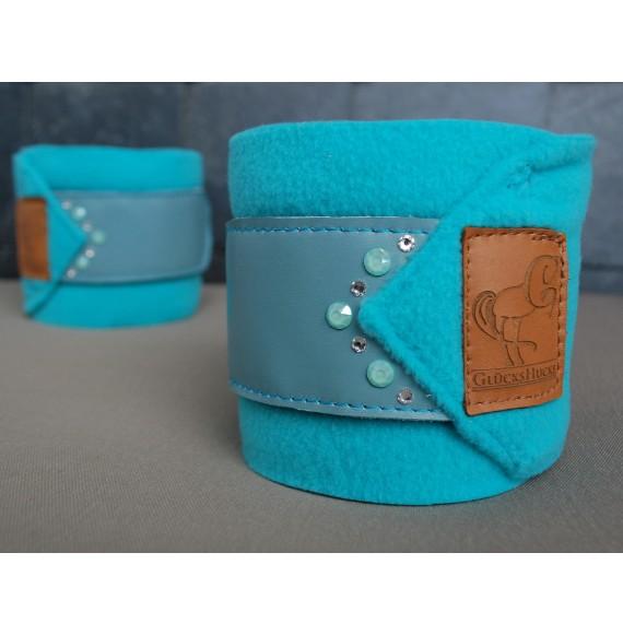 Bandagen türkis-blau mit swarovski