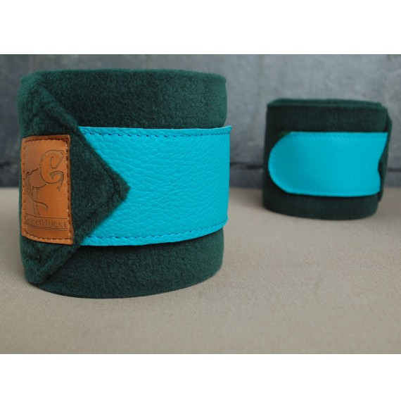 Fleece-Bandagen grün türkis