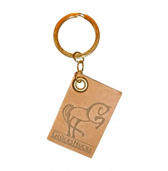 Leder-Schlüsselanhänger GlücksHucke in Gold