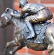 bronze pferd galopp