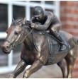bronze-skulptur rennpferd