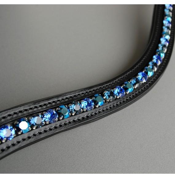 stirnriemen unterlegt metallic blau