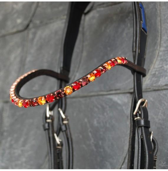 stirnband pferd rot braun