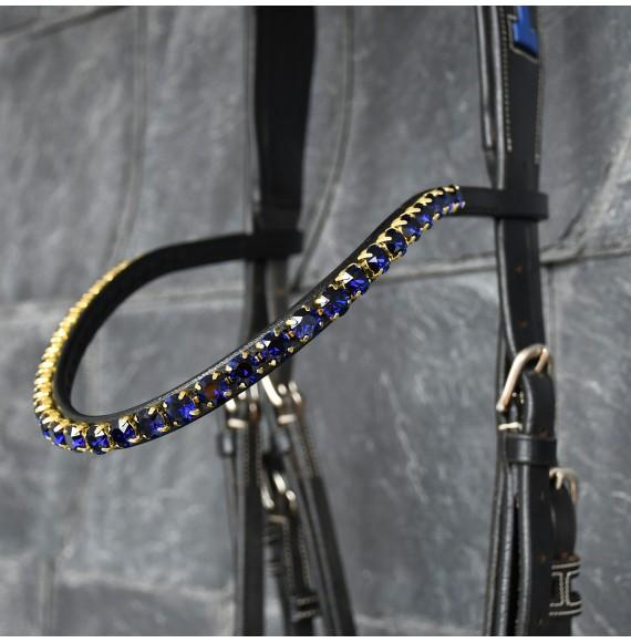 Stirnriemen pferd blau