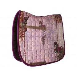 Hochwertige rosa Schabracke 'Fabelross'