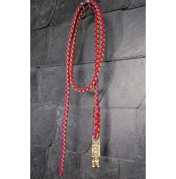 Schöner, hochwertiger Paracord Strick 'Morgenrot' Rot Lila Gold