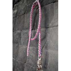 Paracord Strick 'Karussell' Rosa