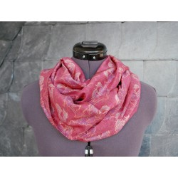 Schöner Leichter Loop 'Morgenrot' Rot Rosa Lila