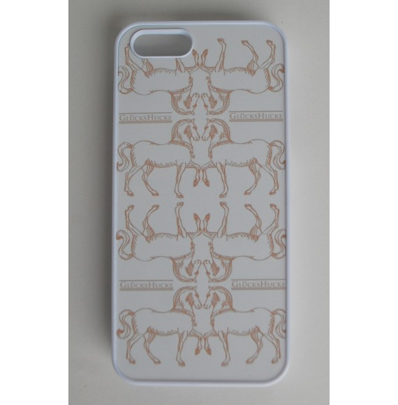 Smartphone Case 'Goldpferde' Gold Weiß