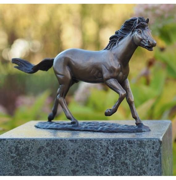 Hochwertiges, schönes Bronzepferd Dekopferd, Pferdeskulptur 'Laufendes Pferd'