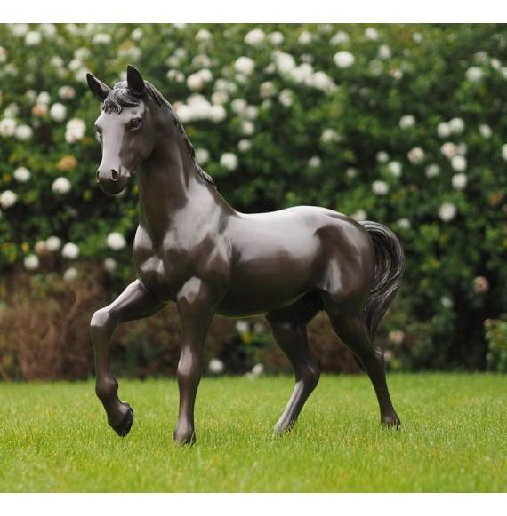 Großes, hochwertiges Bronzepferd, Bronzeskulptur, Bronzefohlen 'Fohlen im Schritt'